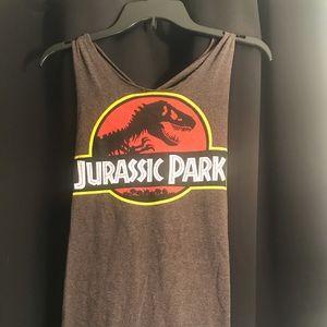 Key-Hole Back Jurassic Park Tank Top
